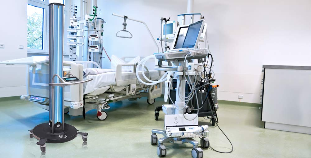 UV-360 in Anwendung auf Intensivstation