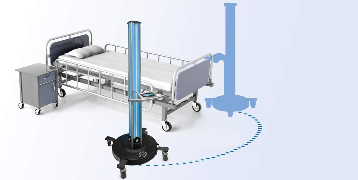 Anwendung UV-360 im Patientenzimmer